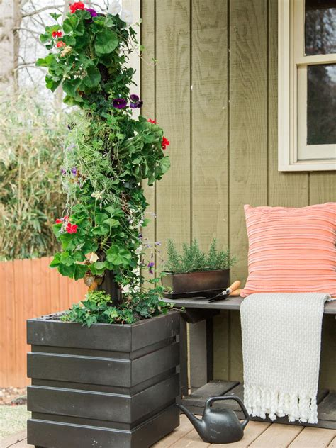 Vertical Garden Pipe by How To Make A Vertical Garden With Pvc Pipe Hgtv