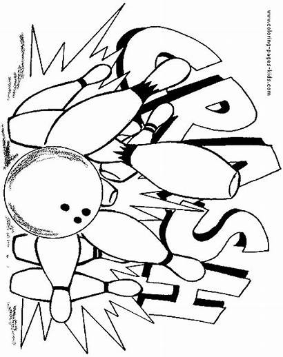 Bowling Coloring Pages Sports Sheets Strike Printable