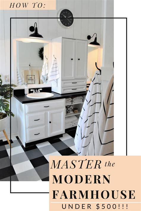 How To Master The Modern Farmhouse Bathroom {under $500} — The Other Side Of Neutral