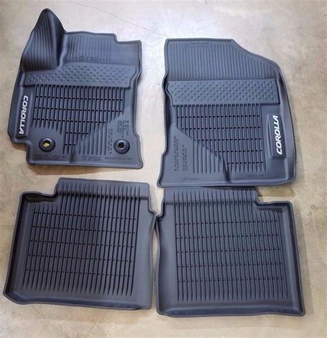 Toyota All Weather Floor Mats by 2017 2019 Toyota Corolla Floor Mats Rubber All Weather