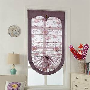 Beautiful floral pattern fan shaped roman shade curtains for Curtains that look like roman shades
