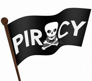 Piracy Flag Illegal Downloading Files Internet Sharing ...