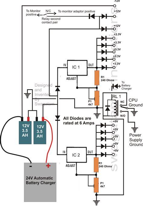 transformerless ups circuit for computers cpu