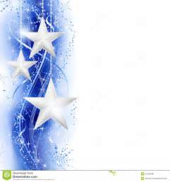 Blue and Silver Star Border