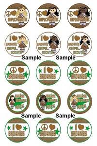 Girl Scout Brownie Bottle Cap Crafts