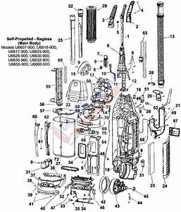 Hoover Self Propelled Bagless Upright U Series Parts List
