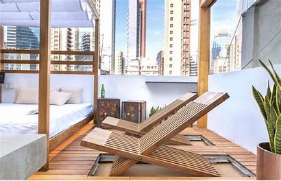 Deck Chairs Apartment Hong Rooftop Terrace Micro