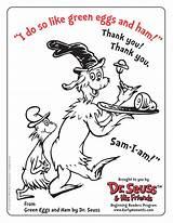 Coloring Ham Eggs Dr Seuss Popular sketch template