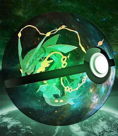 Pokemon Pokeball Rayquaza Inside Mega Universe Wallpapers