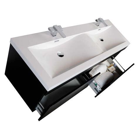 modern double sink vanity 57 quot modern double sink vanity set with wavy sinks black