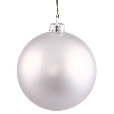 vickerman 34986 silver colored christmas tree ball ornament