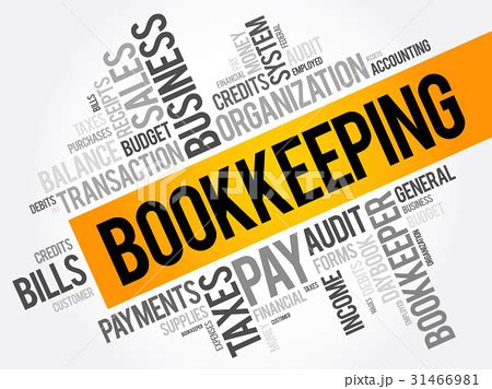 Bookkeeping Word Cloud Collageのイラスト素材 [31466981] Pixta