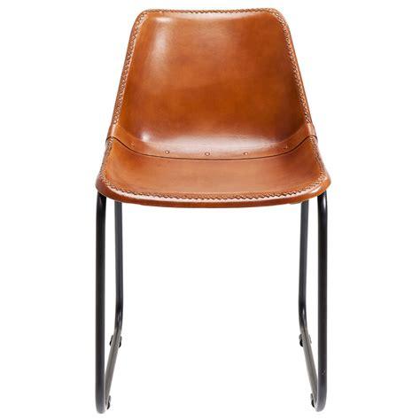 Chaise Cuir Design by Chaise Vintage Cuir Marron Kare Design