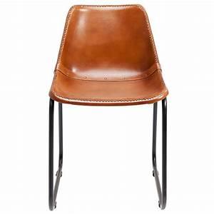 Chaise Vintage Cuir : chaise vintage cuir marron kare design ~ Teatrodelosmanantiales.com Idées de Décoration