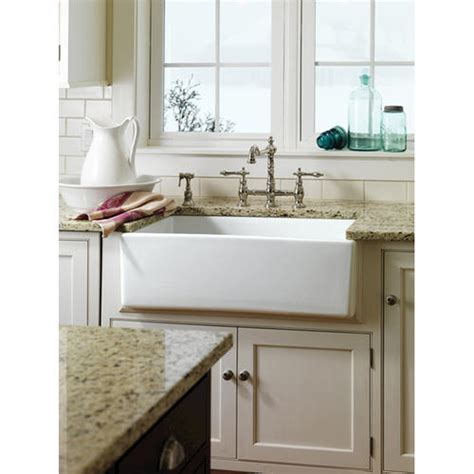 barclay 30 quot farmer sink in fireclay at menards 174