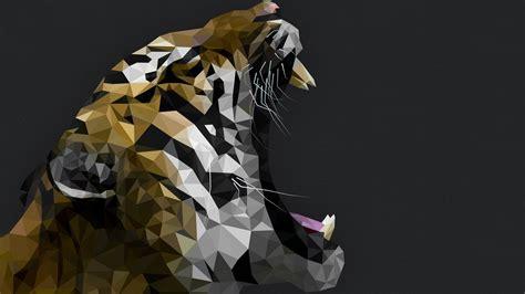 Polygon Animal Wallpaper - wallpaper tiger polygon roar animals 5384 page 2