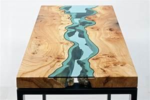 Holztisch Mit Glas : holztische mit integrierten glasfl ssen ~ Frokenaadalensverden.com Haus und Dekorationen