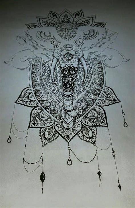 mandala elephant finished  tanjalouiseartist