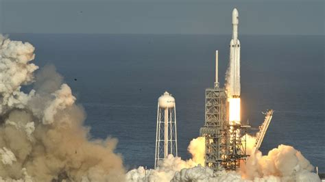spacex successfully launches massive falcon heavy rocket years