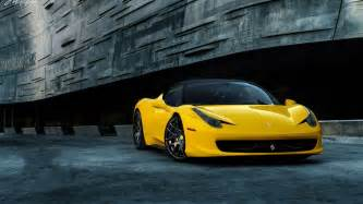 HD wallpapers ferrari 458 italia yellow wallpaper