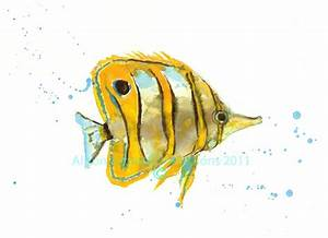 Tropical Fish Art Demo – Alison Fennell Art