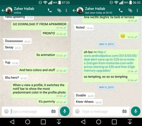 mas material design  whatsapp colombia android
