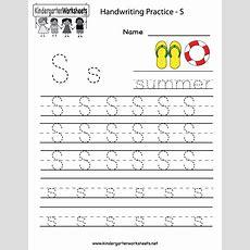 7 Best Images Of Handwriting Printable Kindergarten Worksheets  Practice Writing Letters