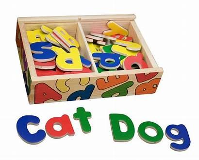 Magnetic Alphabet Wooden Box Toy Doug Melissa