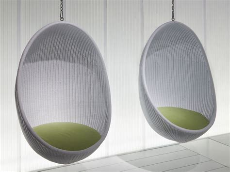 suspended wicker chair egg by pierantonio bonacina