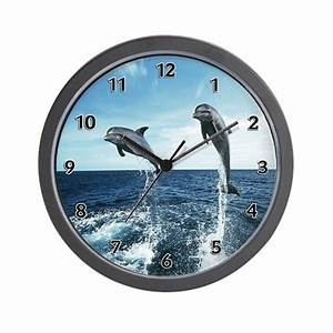 Dolphin Diving Wall Clock By Bonfiredesigns