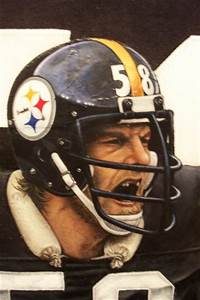 Jack Lambert Jersey ( detail). by Tommy Pons | ArtWanted.com