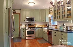 Sage Green Country Cottage Kitchen with Farmhouse Sink transitional kitchen other 2204