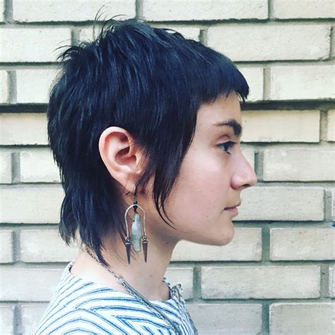 pixie mullet  athairwitch skin makeup hair