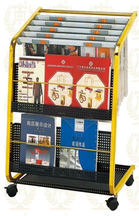 stainless steel information newspaper rack  copper plated xxmm