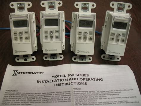 Intermatic Photo Wiring by Lot Of 4 Intermatic In Wall Timers Hardware Classifieds