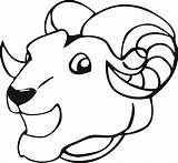 Ram Coloring Rams Uri Unforgettable Described Muflon Intended Intellect Older Popular sketch template