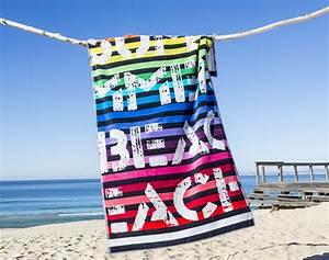 Grande Serviette De Plage : maxi serviette de plage rayures beach 400 g m2 becquet ~ Teatrodelosmanantiales.com Idées de Décoration