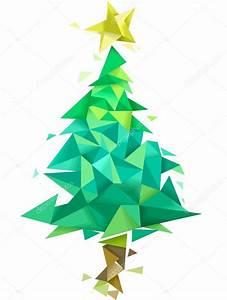 Albero di Natale disegno geometrico Foto Stock © lenmdp #94051056