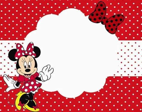 minnie mouse printable party invitation template  girls