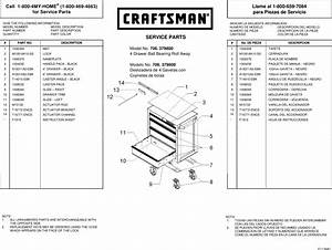 Craftsman 26 In 4 Drawer Heavy Duty Ball Bearing Rolling