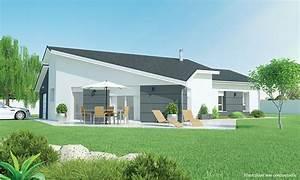 maison moderne de plain pied contemplea With idee maison plain pied 11 maison contemporaine modele