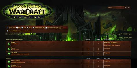 Trintycore Template by Wow Legion Website Template Phpbb Demon World Of Warcraft