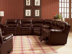 lane home theater double reclining sofa with console With home theater reclining sectional sofa