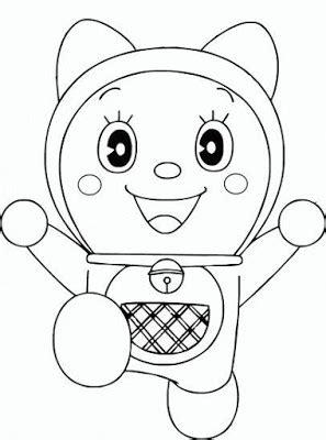 Gambar kartun doraemon sketsa animo kartun via animokartun.blogspot.com. Contoh Gambar Cara Mewarnai Lukisan Doraemon - KataUcap