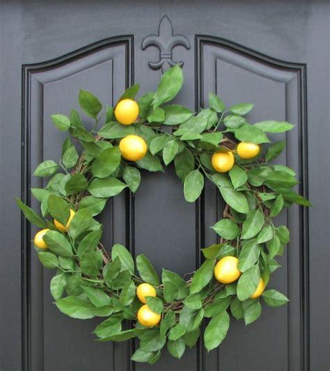 lemon wreath spring wreath door wreaths lemons