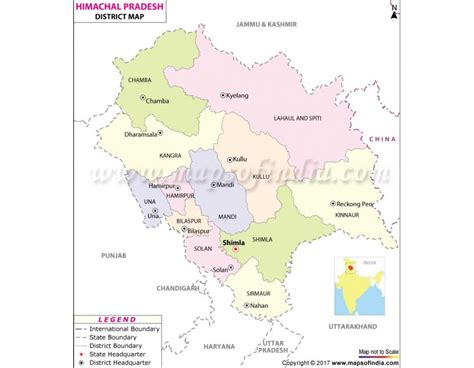 buy himachal pradesh district map