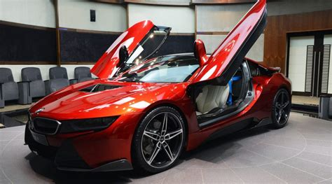 Lava Red Bmw I8 Built For A Princess In Abu Dhabi