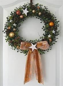 Weihnachtskranz Selber Basteln : weihnachtskranz gold kupfer adventskranz t rkranz weihnachten wand kranz kugeln ~ Eleganceandgraceweddings.com Haus und Dekorationen