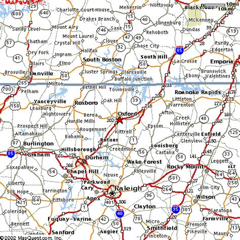 Map to Central Children's Home of North Carolina - Oxford, NC