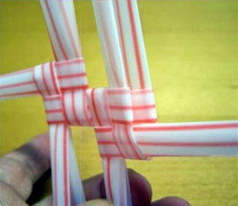 diy woven amazing storage baskets   drinking straws